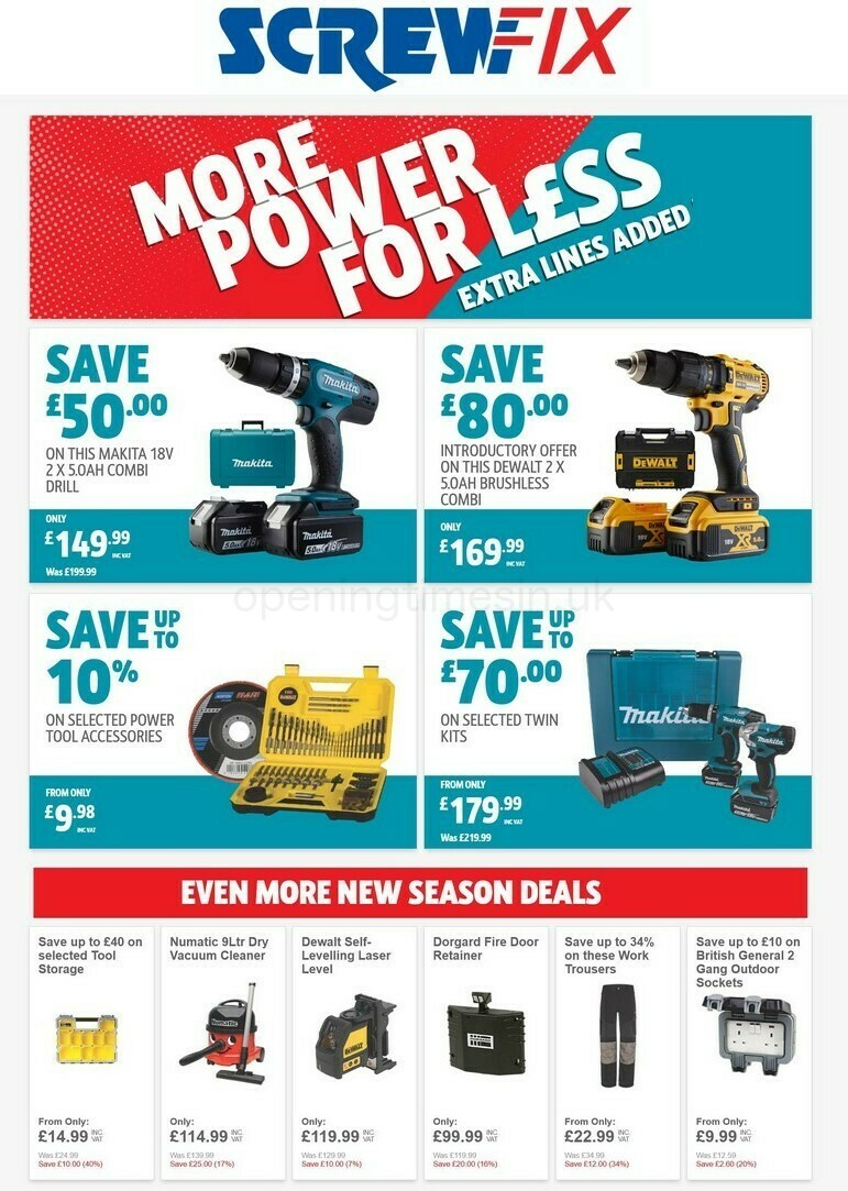 Screwfix Offers from September 16