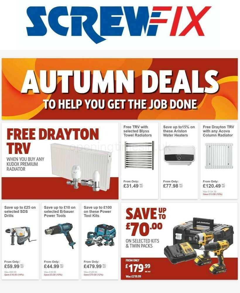Screwfix Offers from October 6