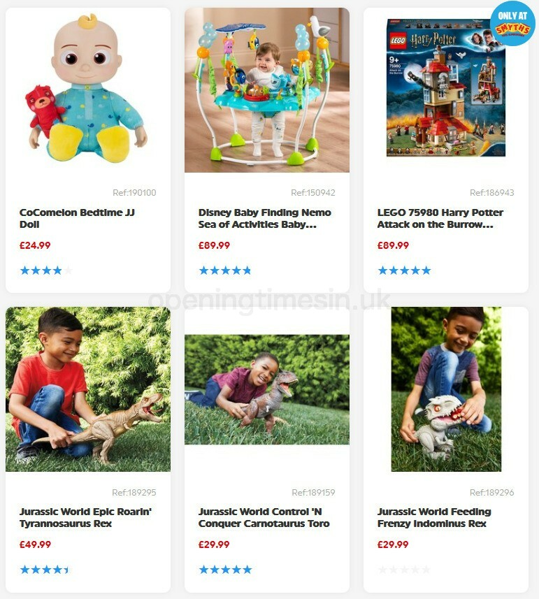 Smyths Toys Offers from August 1