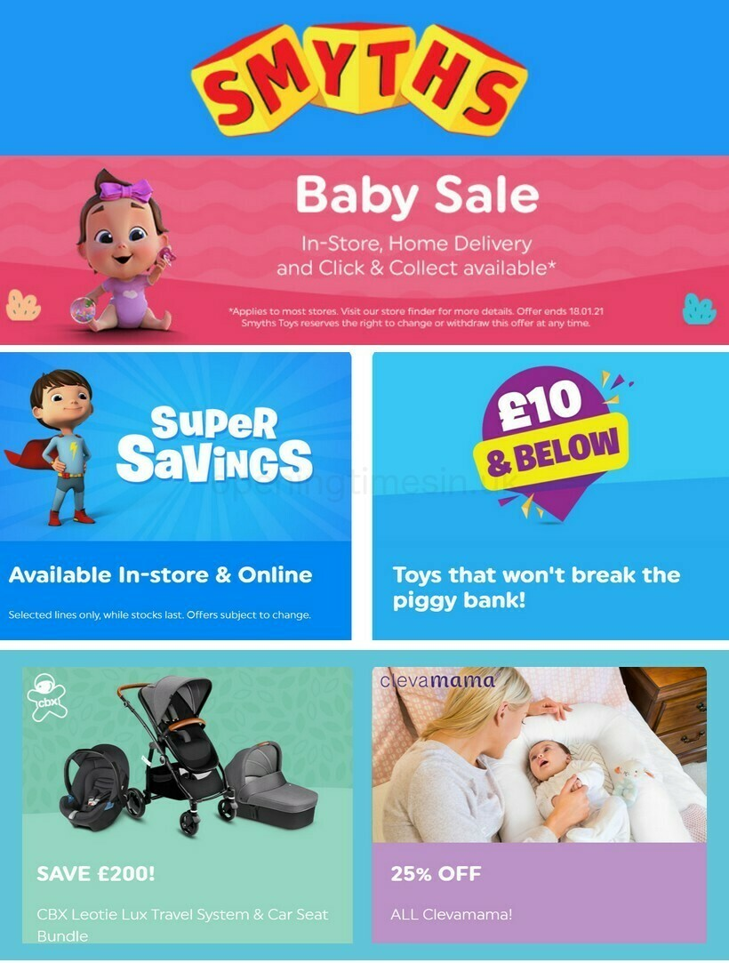 Smyths Toys Offers from January 1