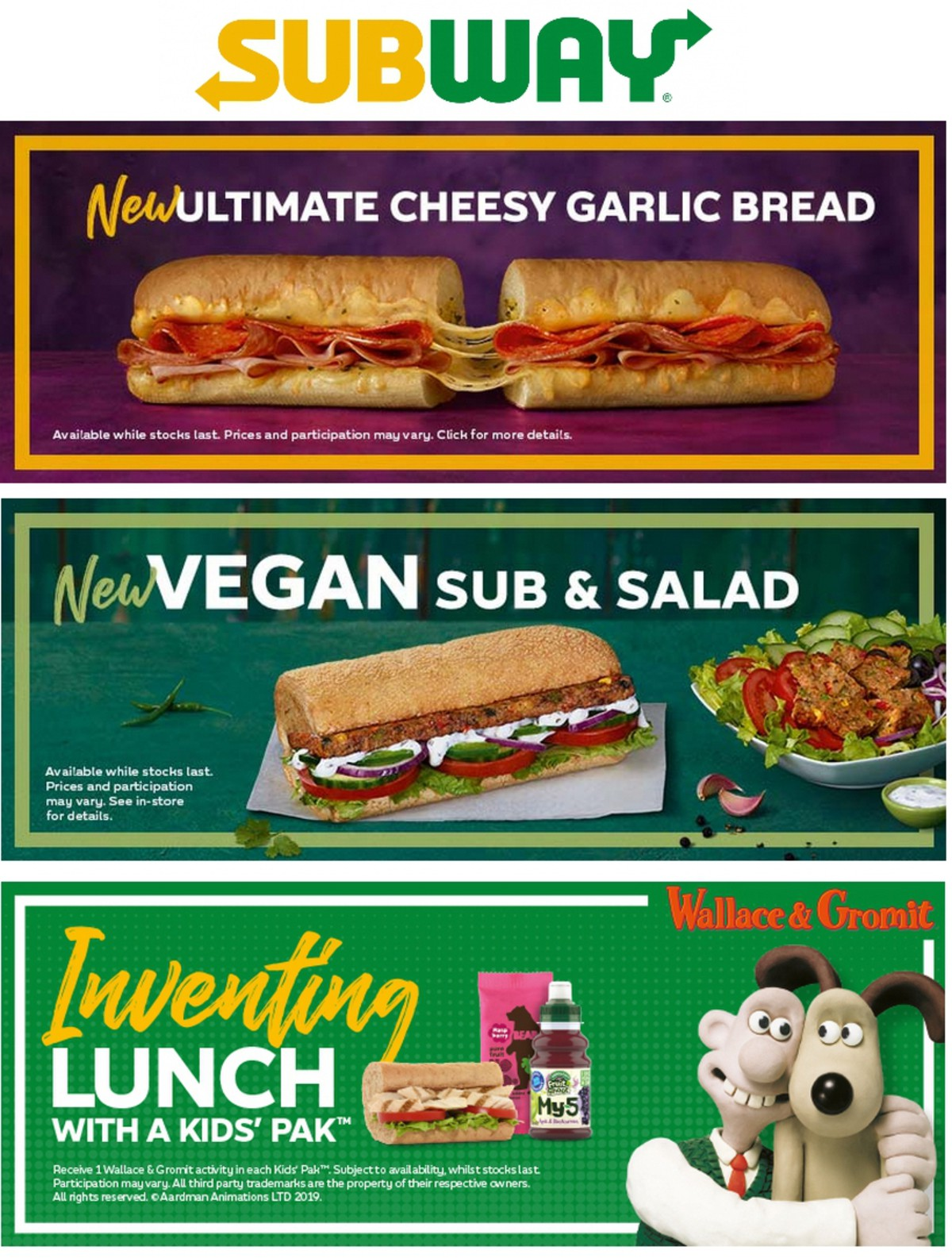 SUBWAY Menu Offers from April 1