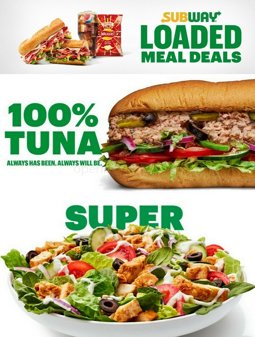 SUBWAY Offers from March 20