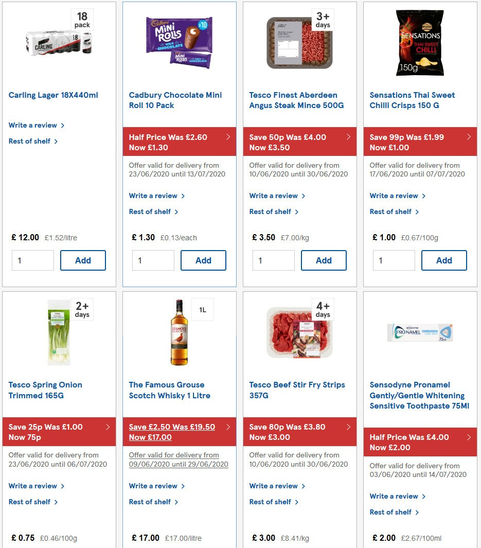 TESCO Offers from June 24