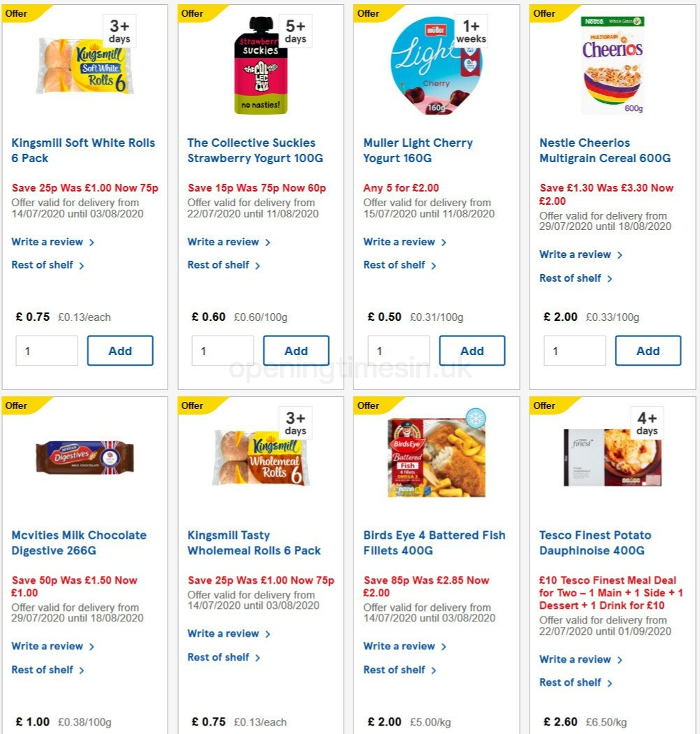 TESCO Offers from July 29