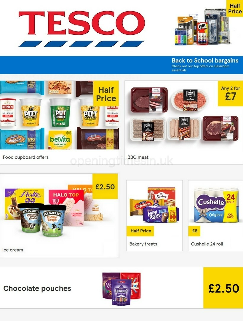 TESCO Offers from August 12