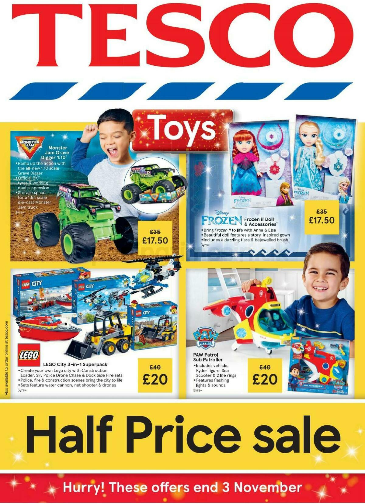 TESCO Tesco Half Price Toy Sale Leaflet Offers from October 2