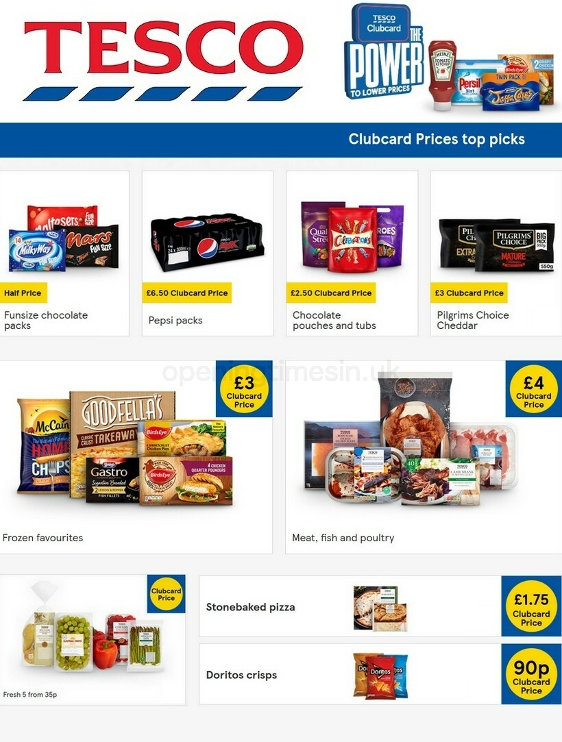 TESCO Offers from October 14