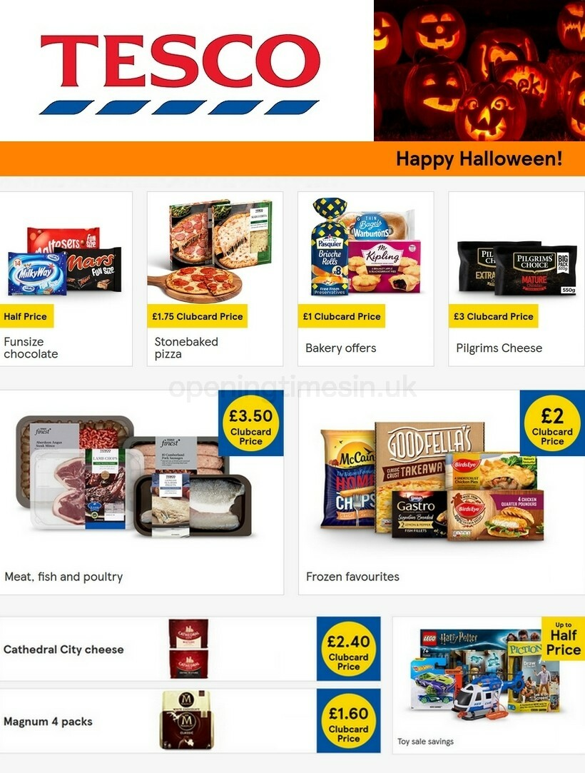 TESCO Offers from October 21