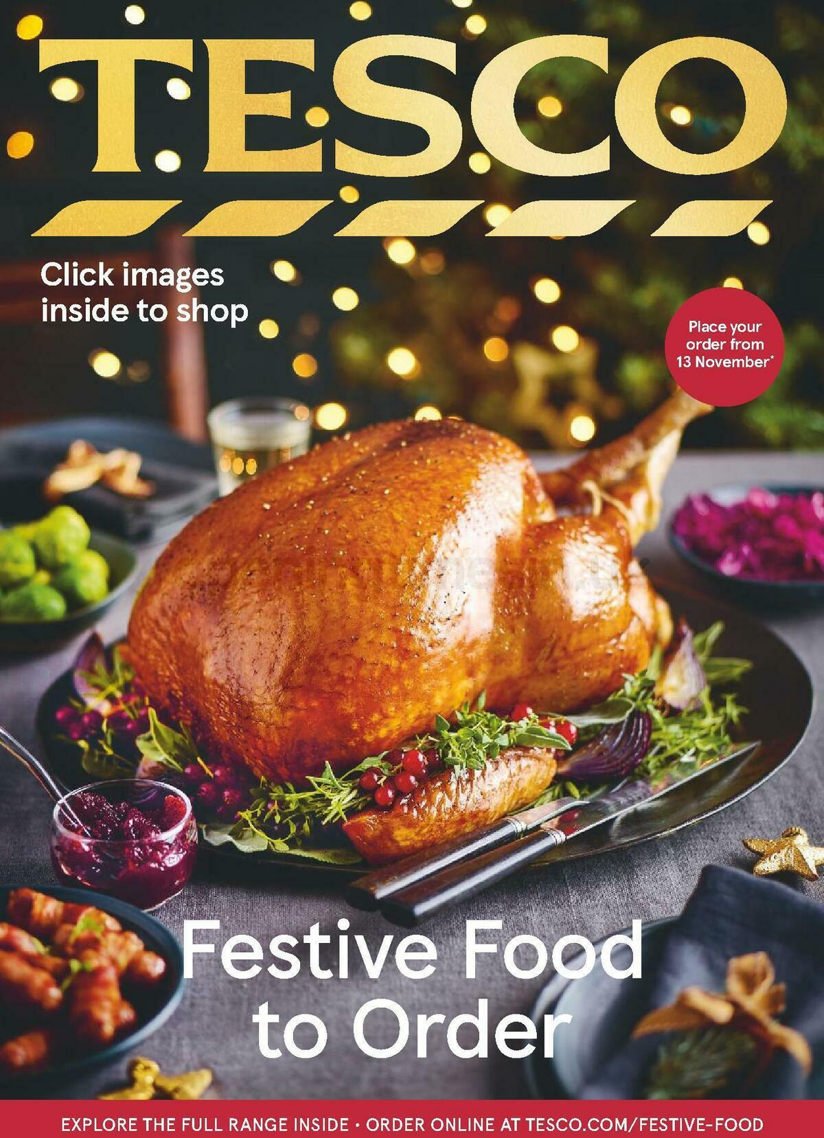TESCO Festive Food To Order Offers from October 19