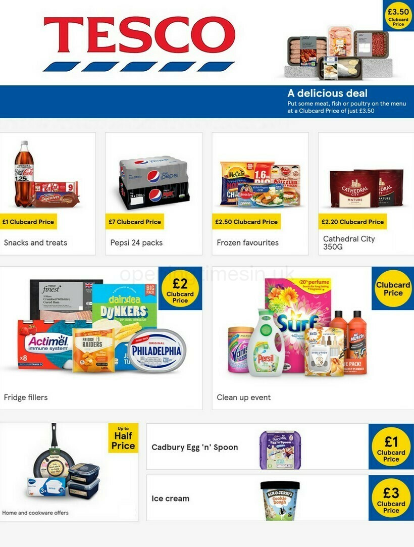TESCO Offers from January 27