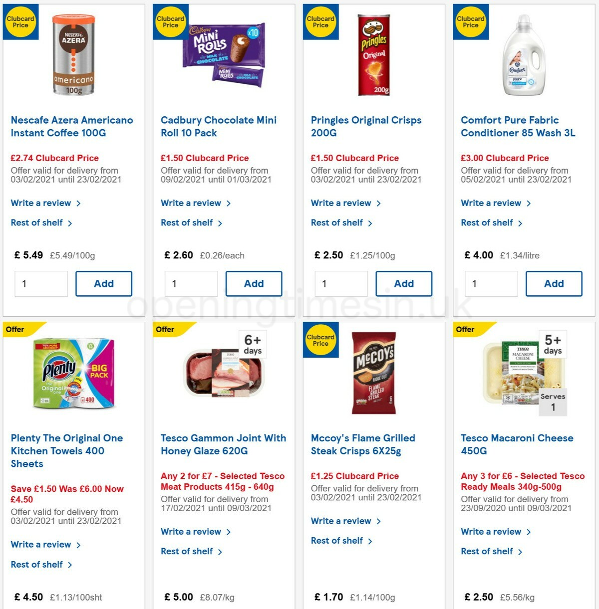TESCO Offers from February 17