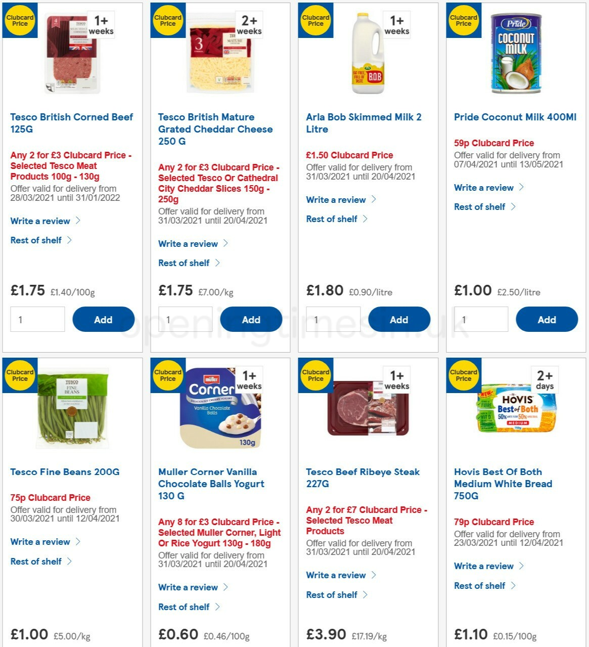 TESCO Offers from April 7