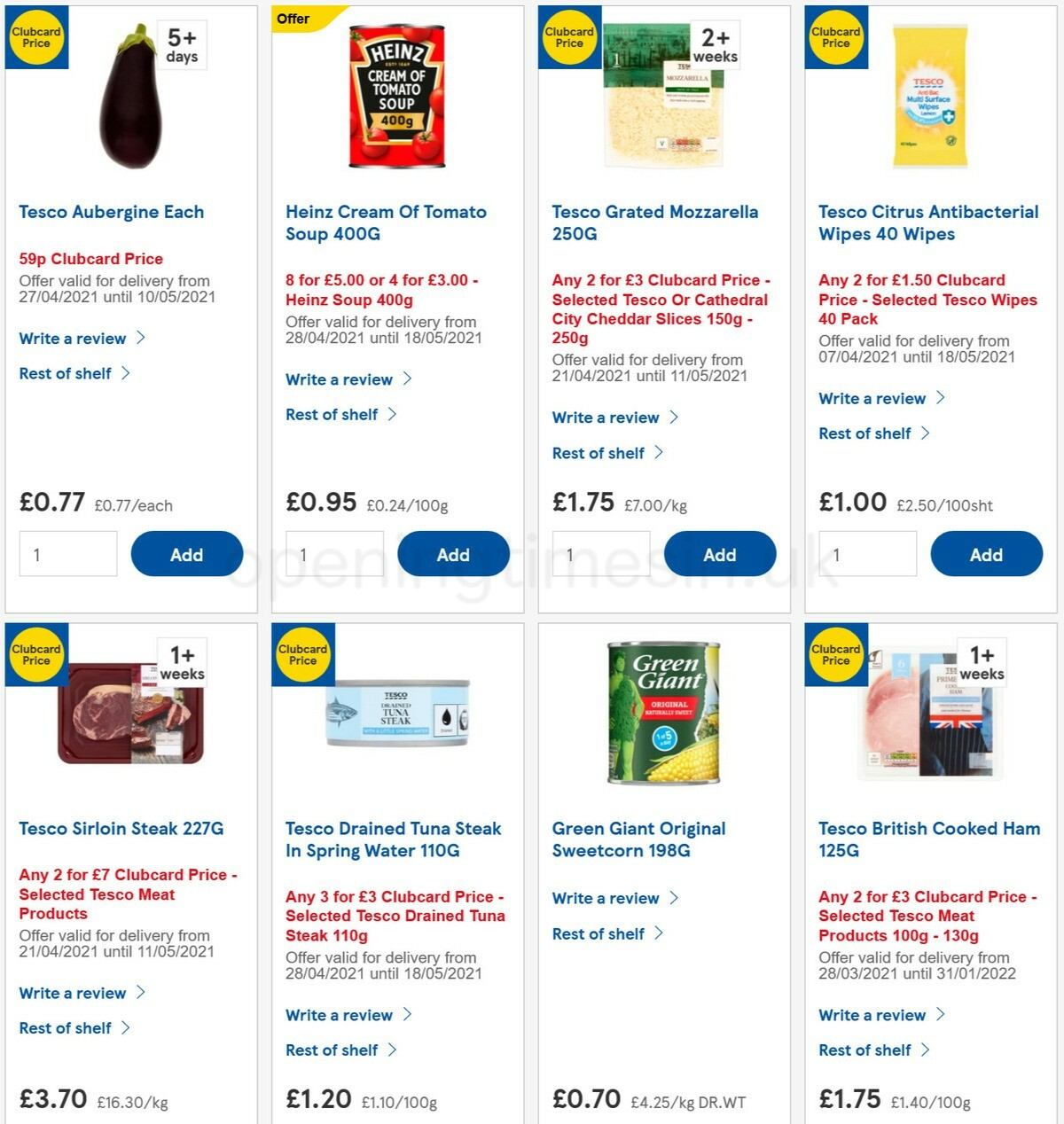 TESCO Offers from April 28