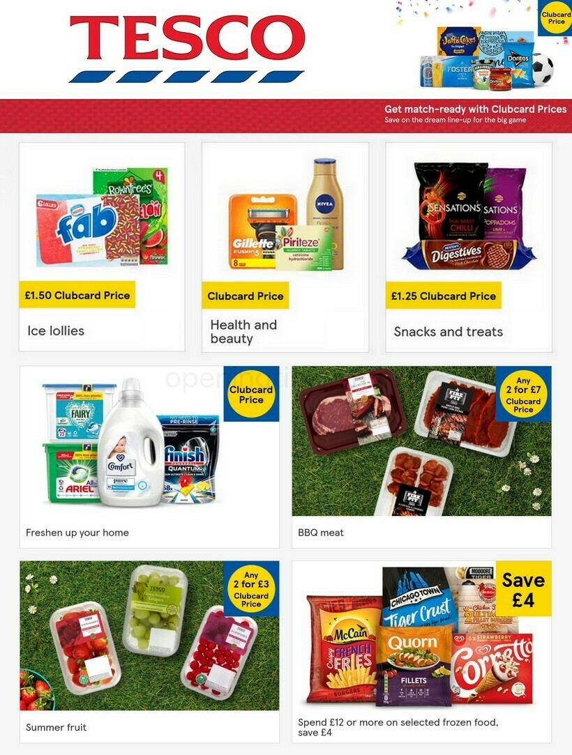TESCO Offers from June 9