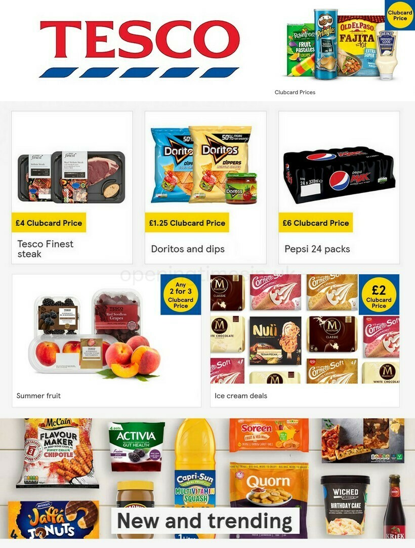 TESCO Offers from June 16