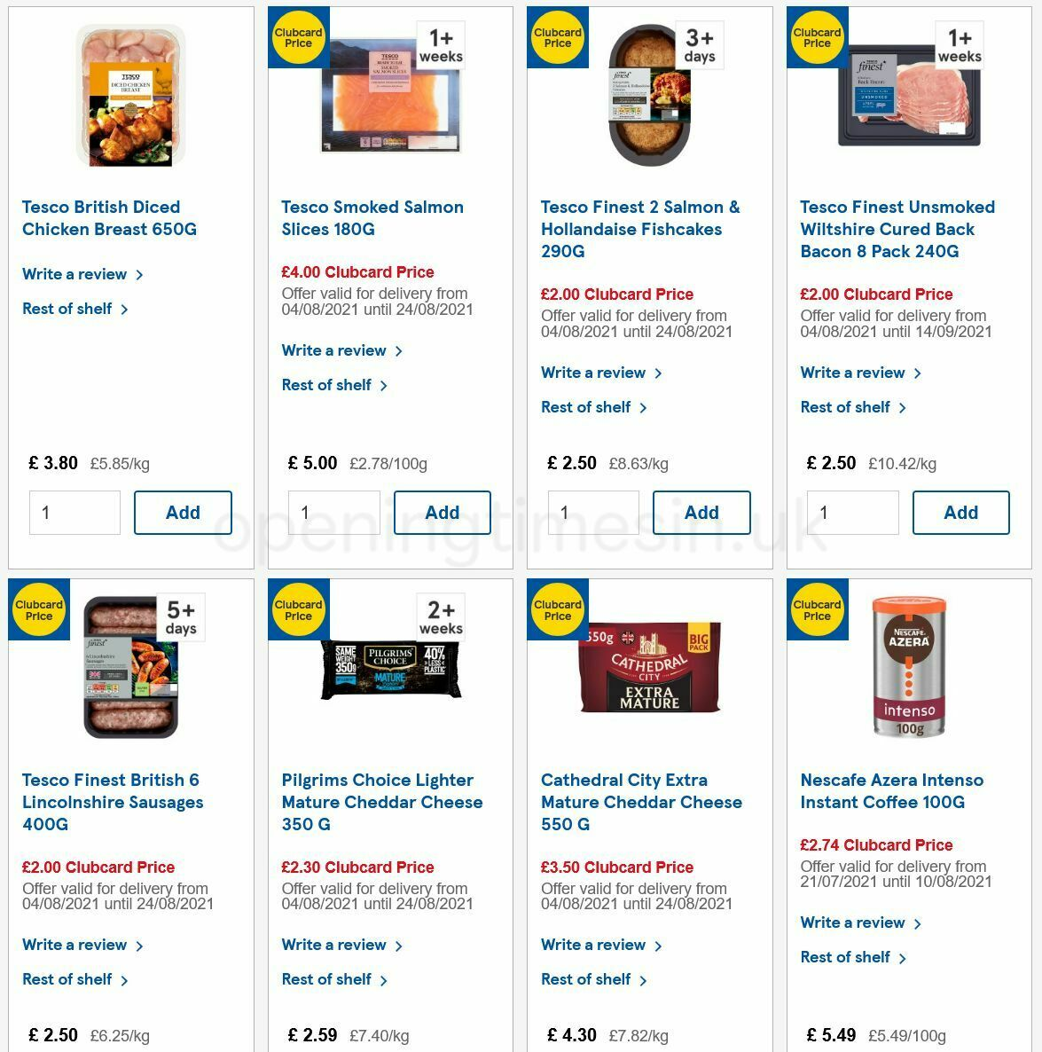 TESCO Offers from August 4