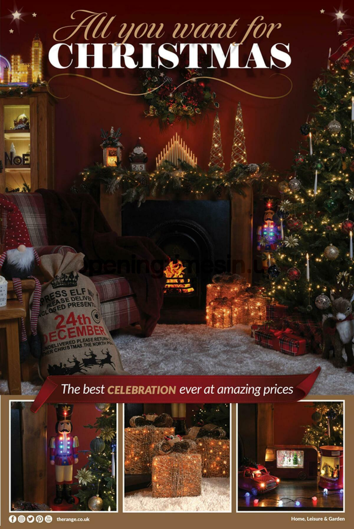 The Range All You Want For Christmas Offers from October 15