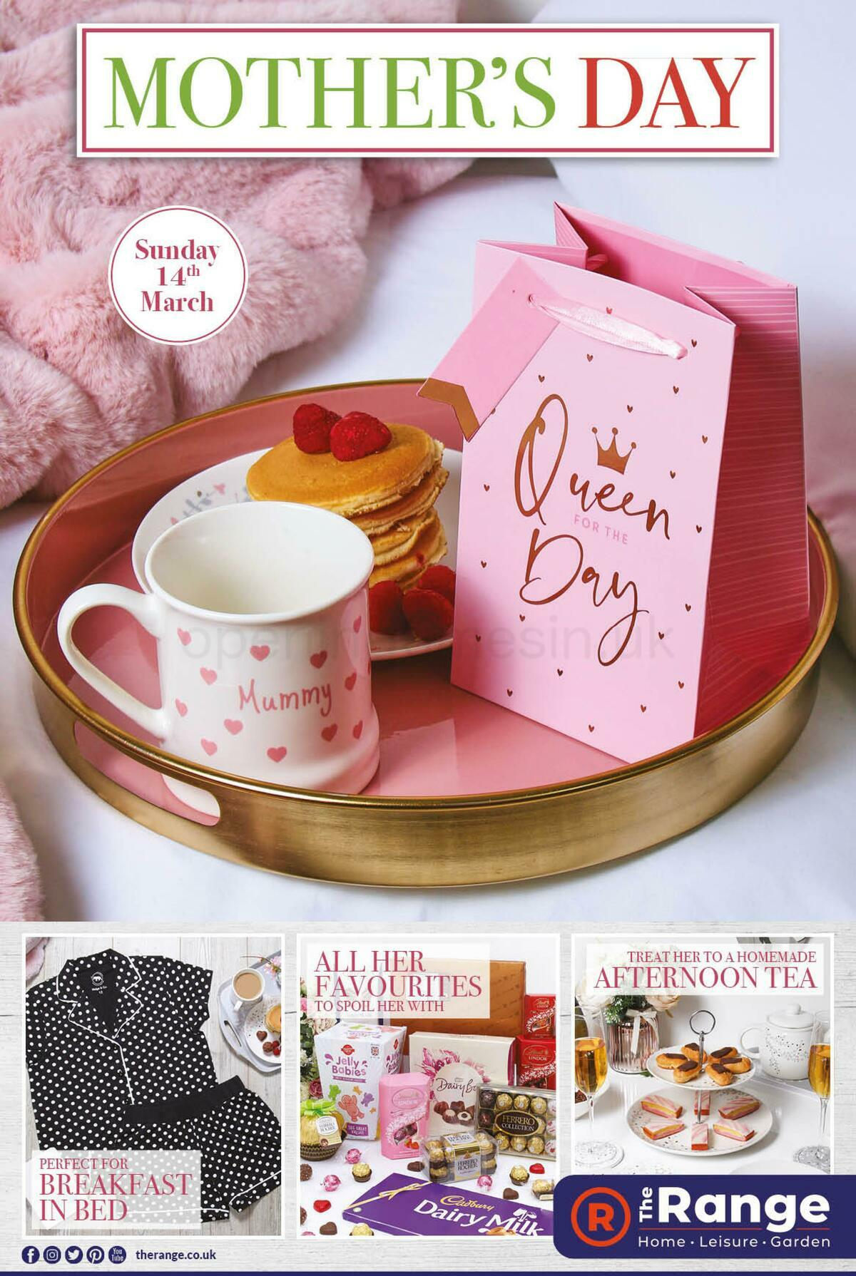 The Range Mother's Day Offers from February 25