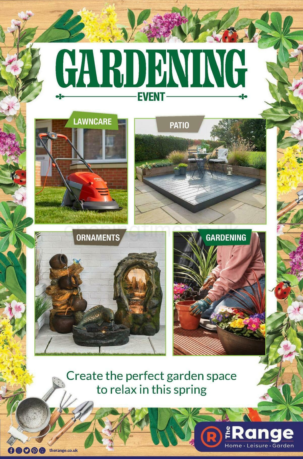 The Range Gardening Event Offers from April 30