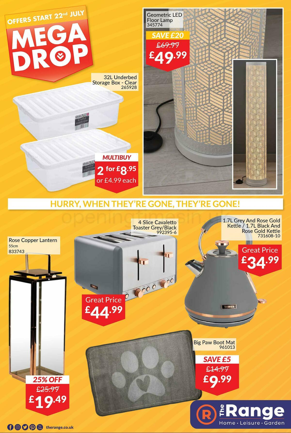 The Range Offers from July 22