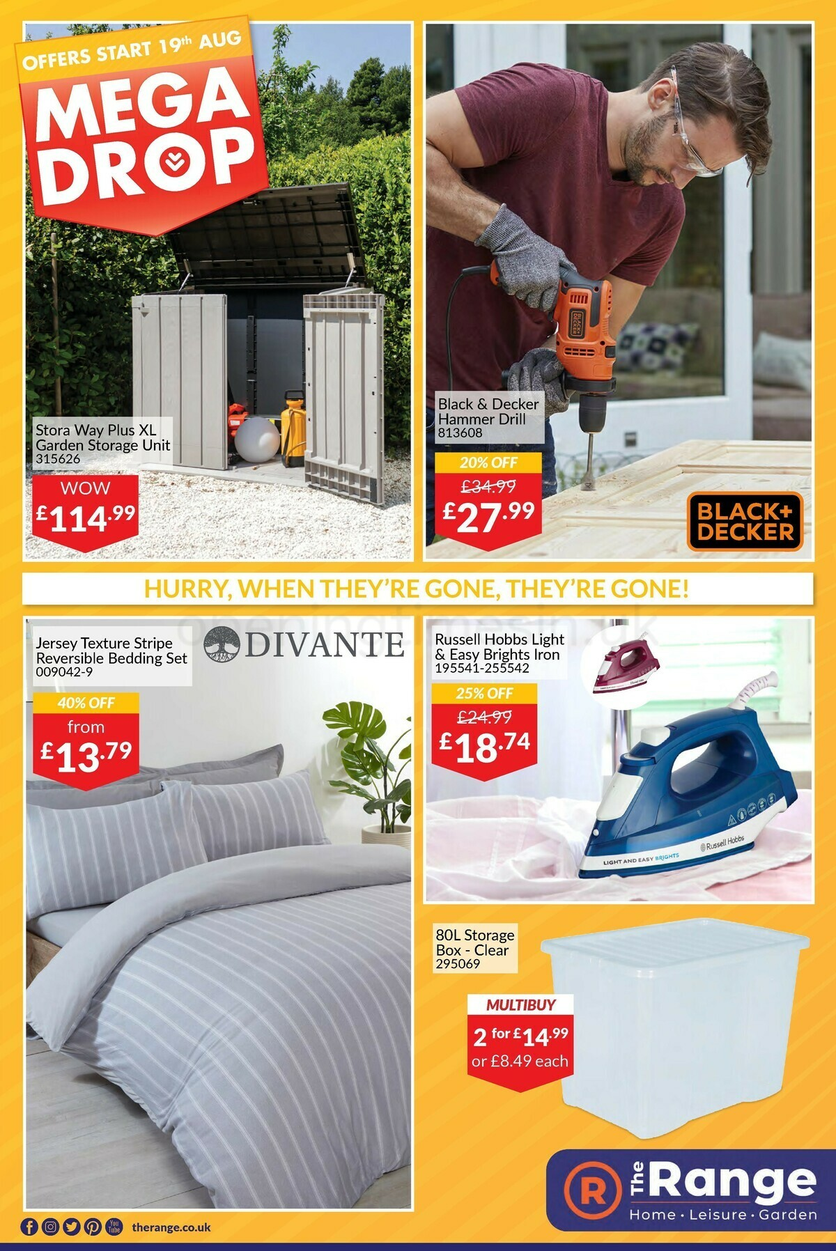 The Range Offers from August 19