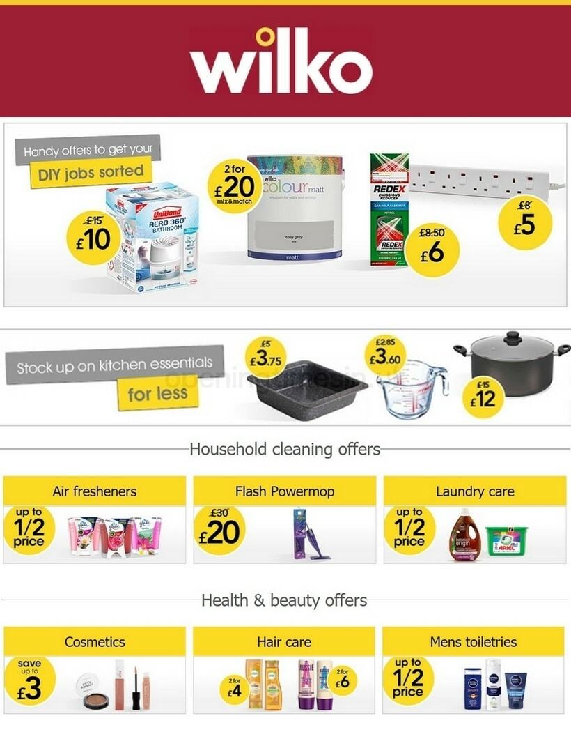 Wilko Offers from October 14