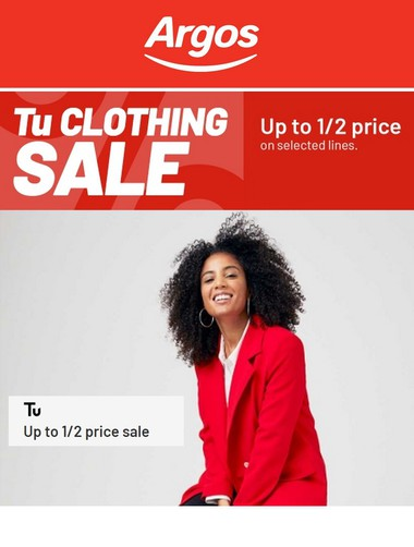 Argos Tu Clothing Sale