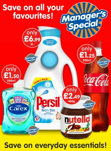 B&M Manager's Specials