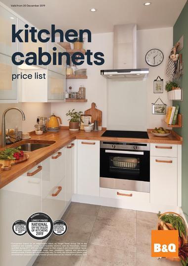 B&Q Kitchen Cabinets price list