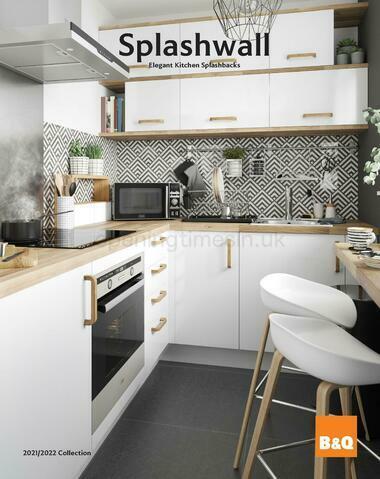 B&Q Splashwall Elegant Kitchen Splashbacks