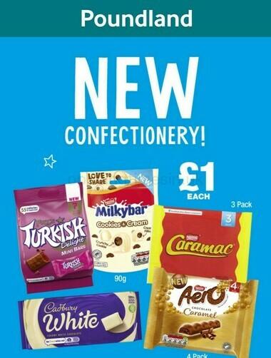 Poundland NEW in sweet treats