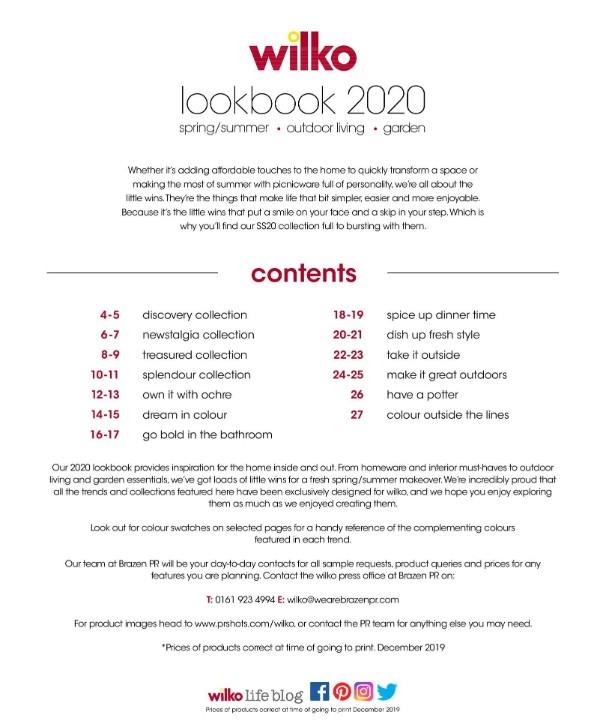 Wilko Lookbook 2020 Spring/Summer Best Offers And New
